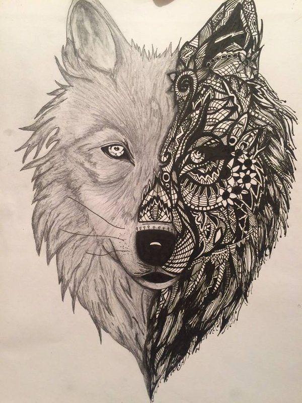 abstract wolf tattoo google search tatuaggi pinterest wolf tattoos suche und abstrakt. Black Bedroom Furniture Sets. Home Design Ideas