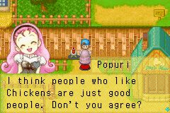 Oh, ok. (Popuri in Harvest Moon: Friends of Mineral Town)