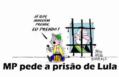 MP de SP pede prisão preventiva a Lula da Silva.