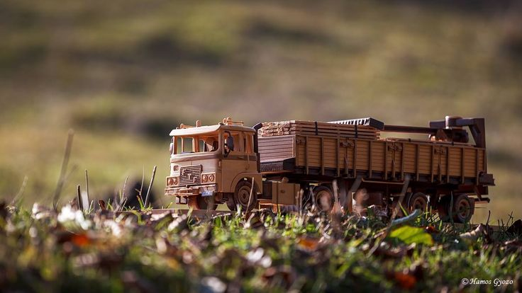 Miniature wooden truck