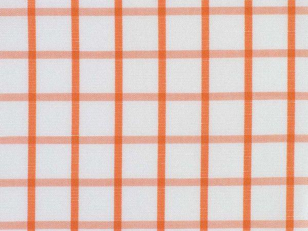 Orange and White Overchecked Cotton-Linen