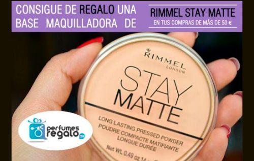 Regalo una base maquilladora RIMMEL STAY MATT