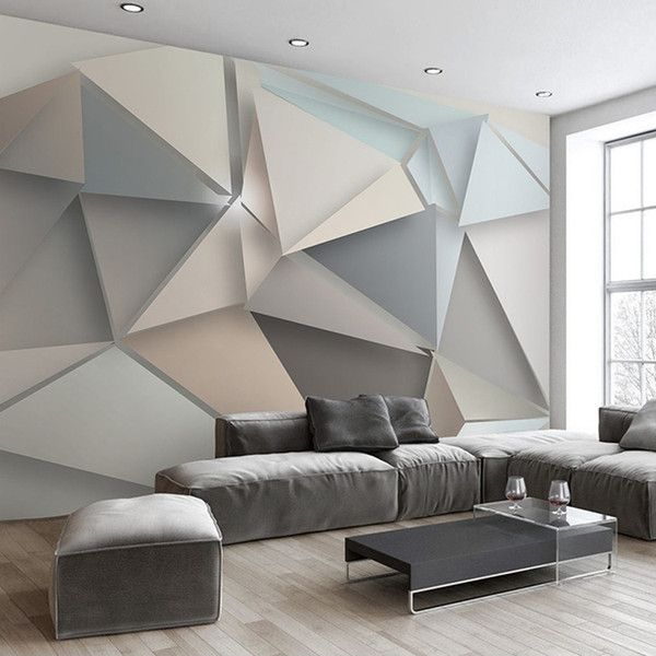Custom Photo Wall Paper 3d Modern Tv Background Living Room Bedroom Abstract Art Wall Mural Geo Wallpaper Living Room Rooms Home Decor Geometric Wallpaper Home