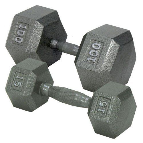 Free Weights Vs Barbell: Nice Champion Barbell 3 Lbs. Solid Hex Dumbbell With Ergo