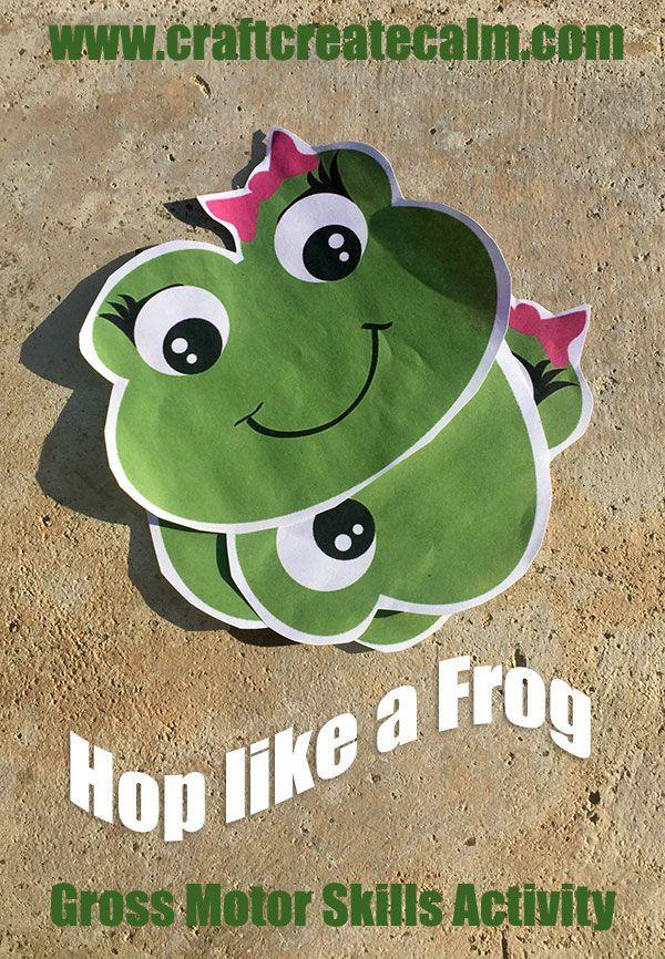 Hop like a Frog Gross Motor Skills Preschool Activity