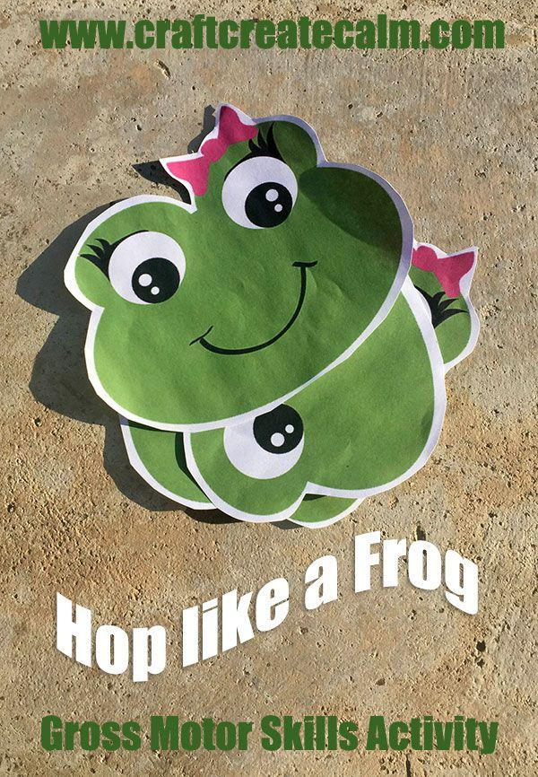 Preschool frog themed gross motor skills activity get for Preschool gross motor games