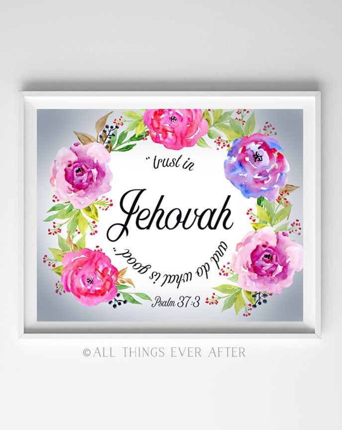 JW | SKE Gift | Trust in Jehovah and do what is good | Psalm 37:3 | 2017 year TEXT | Daily Text | bible quote | Jehovah | bethel | 0080 by AllThingsEverAfter on Etsy