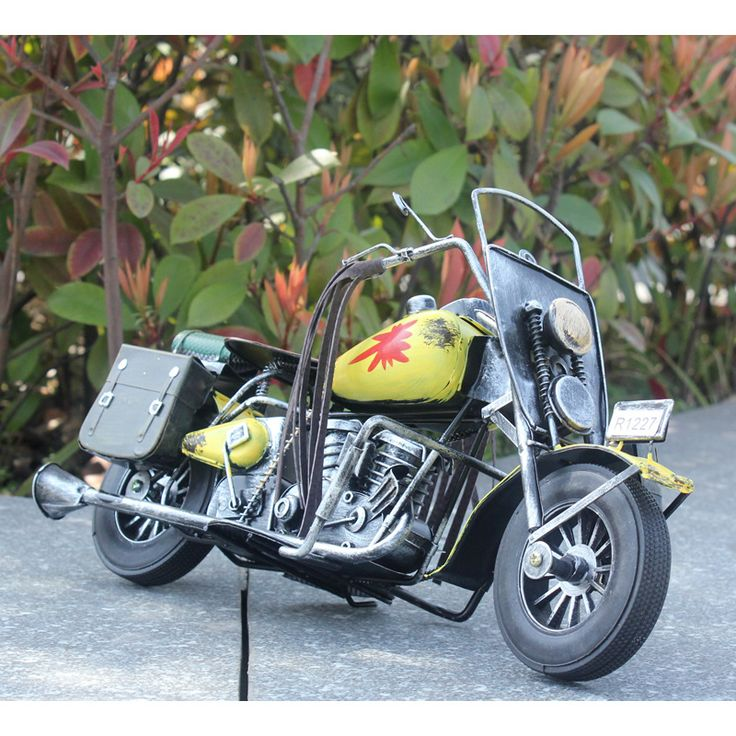 Domineering Large Old Motorcycle Model Iron Moto Model Metal Craft Vintage Motorcycle Retro Home Decor Birthday Gift for Boys #Affiliate
