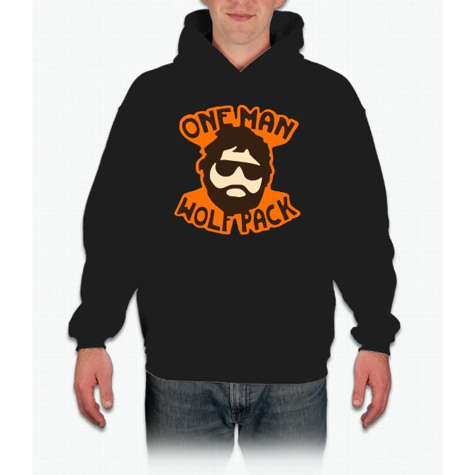 One Man Wolf Pack The Hangover Movie Bee Movie Hoodie