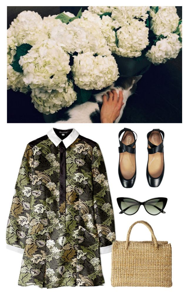 """""""Blue Hydrangea"""" by laurenmarron ❤ liked on Polyvore featuring Ostwald Helgason, Chloé, Toast and laurenthelabel"""