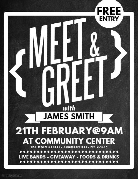 Meet  Greet Flyer PosterMyWall Meet, Flyer template