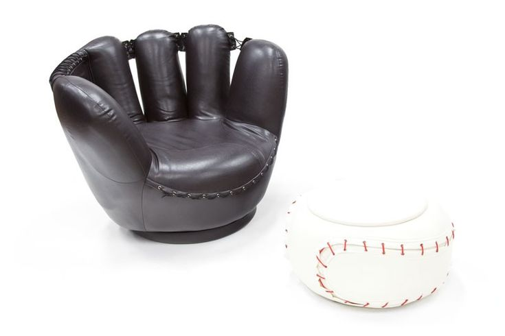 Baseball Glove Chair & Ottoman $125--I want one some day