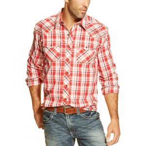 Find the Ariat Men's Carlos Button Shirt - Crimson Flame by Ariat at Mills Fleet Farm.  Mills has low prices and great selection on all Shirts.