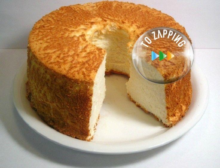 Pastel de ángel light. Un buenísimo pastel de ángel, light y 100% libre de grasa, es una autentica delicia que no engorda. El pastel de ángel, es un pastel