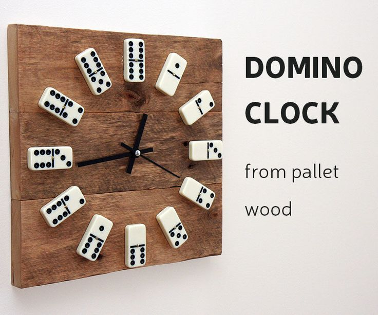 This time I'll show you, how to make a clock from reclaimed pallet wood and use domino tiles instead of numbers.How I did it - you can check by looking DIY video or you can follow up instructions bellow. For this project you will need: Materials:Pallet board Epoxy glueVarnishBrushDomino tilesClock movement mechanism Wood glueFew wood screwsTools: Miter saw or hand sawTable saw or hand planerDrill and bits ScrewdriverClamps