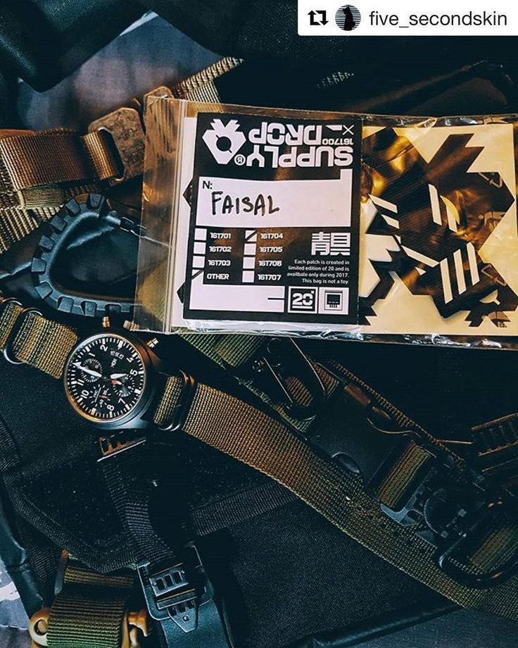 Resourceful techwear #essential from Mr. @five_secondskin featuring the MOD201 the infamous Pilot timepieces from IWC and #techninja sticker pack from @aokuco for his #weekend infiltration. We would love to see your techwear outfit with #orbitfaction tag and we'll be happy to feature your best snap on our feed.  #orbitgear  #orbitfaction #techessentials