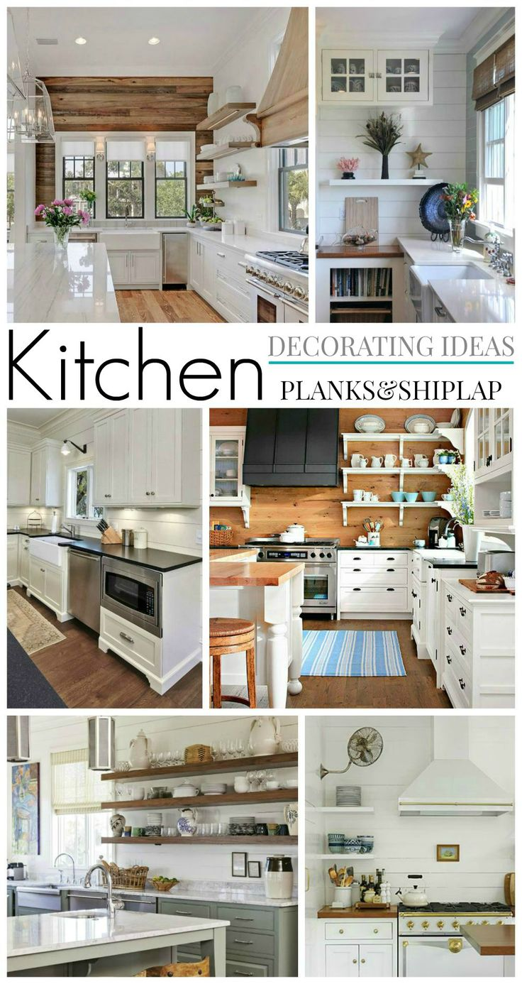 Decorating Ideas Wood Planks and Shiplap - Kitchen Plans/Inspiration for The Little Cottage foxhollowcottage.com