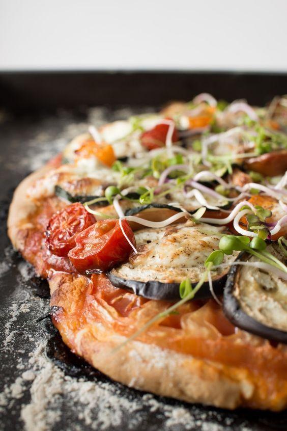 Mediterranean No-Rise Scone Based Pizza with Burrata