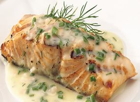 Grilled Salmon with Lemon-Herb Butter Sauce Recipe - Tablespoon