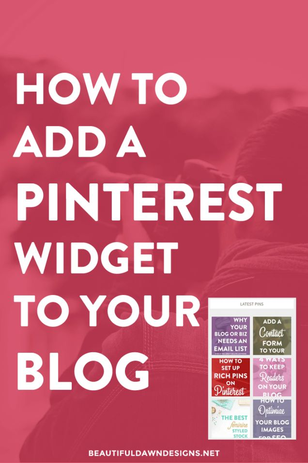 In this tutorial I'll show you how to share your pins with your readers by adding a Pinterest plugin to your blog.