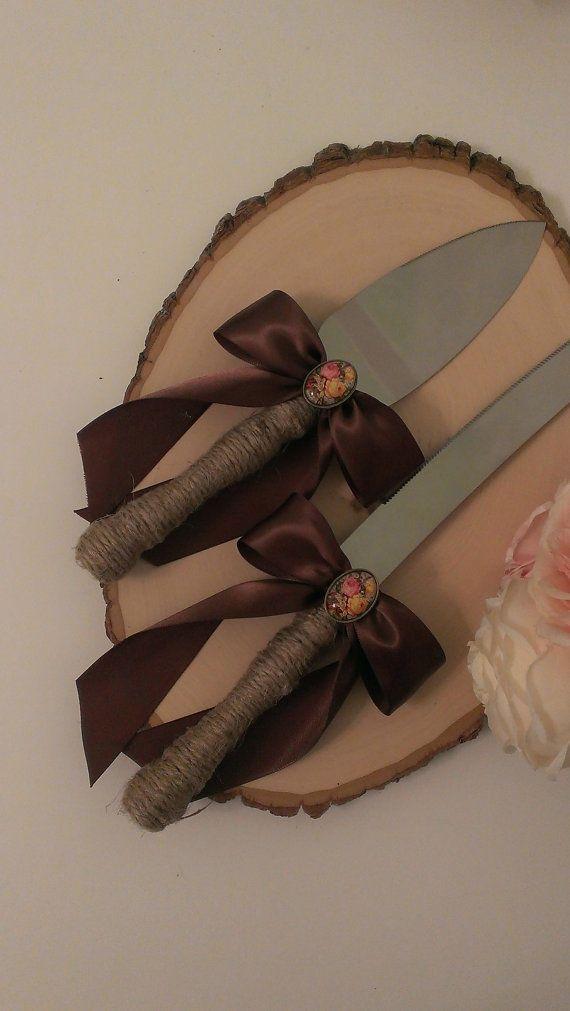 shabby chique bruidstaart mes vintage van RedHeartCreations op Etsy