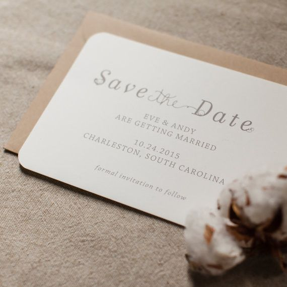 Rustic Save the Date Cotton Plantation Wedding Barn Weddings