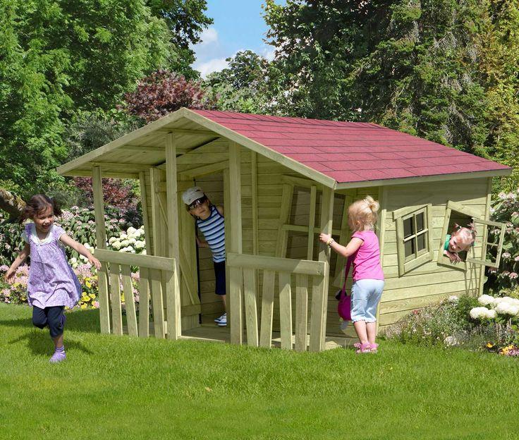 Unique Kinderspielhaus Michel x x cm Sch nes Spielhaus und alles wunderbar schief
