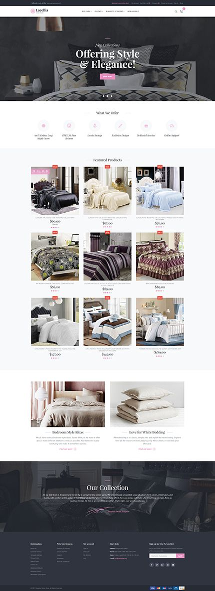 Lacellia! Looking for a sales-centric pre-made #design  to start selling home textile on the #web  ? Consider #linen  Shop #magento  2 #Template  with a mesmerizing look and advanced #online  #stores  functionality. $179 Buy http://www.templatecrea.com/magento-themes-type/62107.html