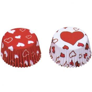 Muffins Papierförmchen Herzchen