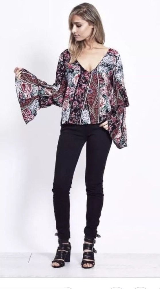 6ed7b199e3b NEW JAASE AUSTRALIA ANTHROPOLOGIE CAMILLE Floral Print Boho Camille Antique  #fashion #clothing #shoes #accessories #womensclothing #tops (ebay link)