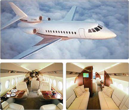 Falcon 900, external and internal image - AJ MacDonald - Yacht Broker - AJ@DenisonYachtSales.com