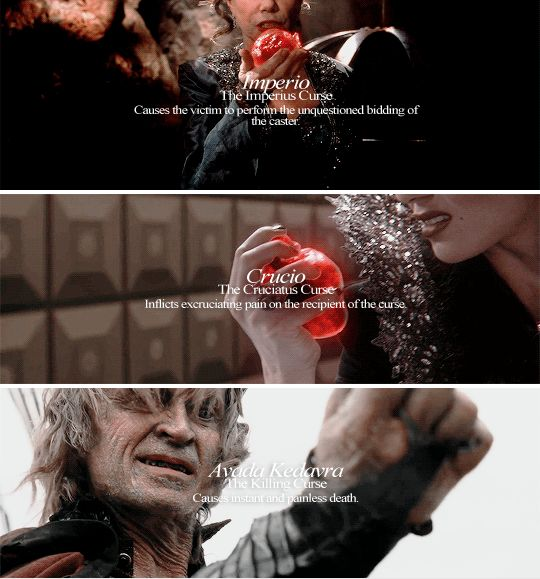 The Three Unforgivable Curses #ouat/ Harry Potter crossover #harrypotter