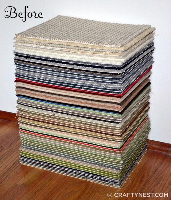11 Diy Ideas Crafts Carpet Samples Repurposed