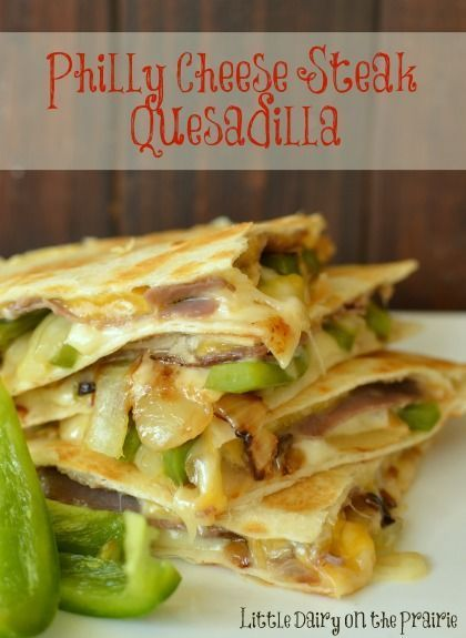 Philly Cheese Steak lovers will go crazy over this quesadilla!..
