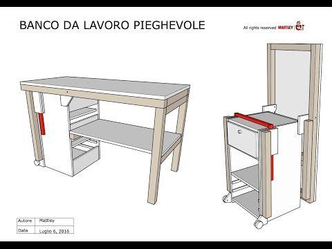 FAI DA TE - Progetto in PDF del Banco da lavoro pieghevole - YouTube