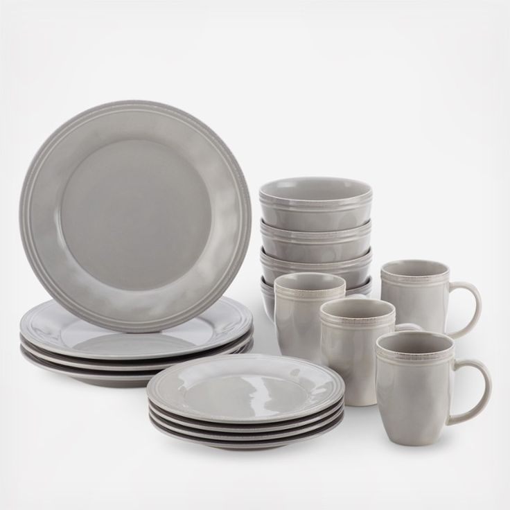 Ease into everyday eating and dining while making the most of special occasion entertaining with the cozy, warm appeal of the stylish, durable Rachael Ray Cucina Dinnerware 16-Piece Stoneware Dinnerware Set. This dining set blends relaxed, rustic character with modern functionality. Crafted from durable, solid stoneware and glazed with earthy, warm color, the dinnerware brandishes just the right touch of handcrafted texture with a subtle antiqued look.  Includes: 4 dinner plates 4 mugs 4…