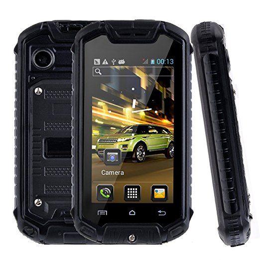 YINGJIE Mini Z18 sbloccato Smartphone Android 4.0.4 Dual SIM Dual Core antiurto telefono 2.45 pollici mobile antipolvere impermeabile (nero)