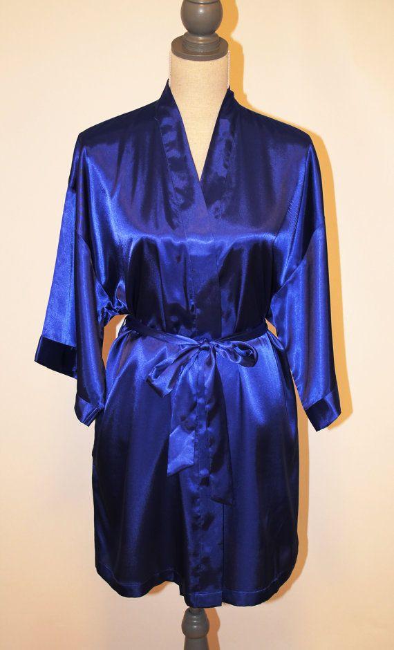 Satin Robe Royal Blue Bride Bridesmaid Maid Of Honor