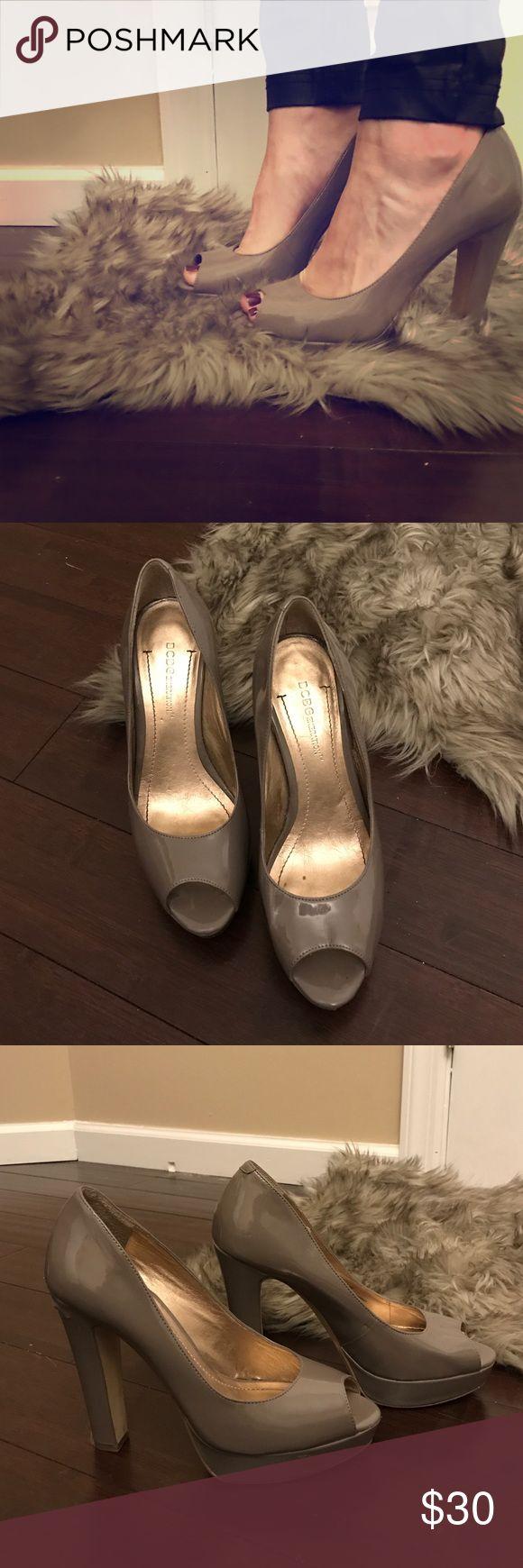 BCBGeneration peep toe pumps Grey pumps 👠 BCBGeneration Shoes Heels