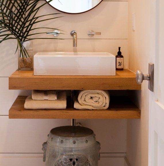 Maple Floating Vanity Constructed From Both Solid Maple And Maple Plywood For Strength Floating Bathroom Vanities Floating Bathroom Sink Wood Bathroom Vanity