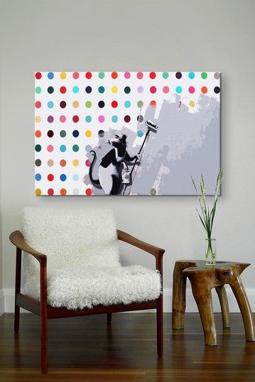 Rat Spots Damien Hirst by Banksy Canvas Print by iCanvasART on @HauteLook