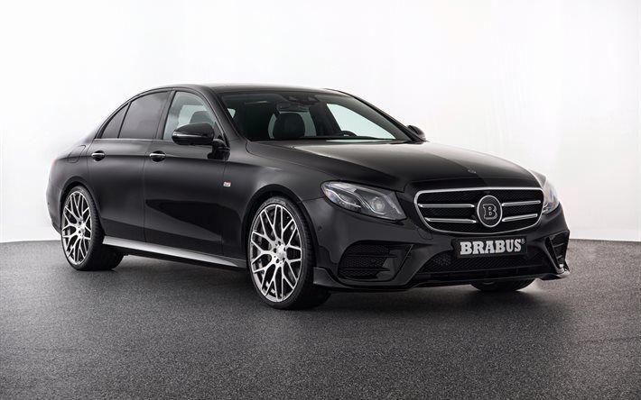 Mercedes E-Class, W213, Brabus, 4k, Sedan, black Mercedes, tuning E-Class