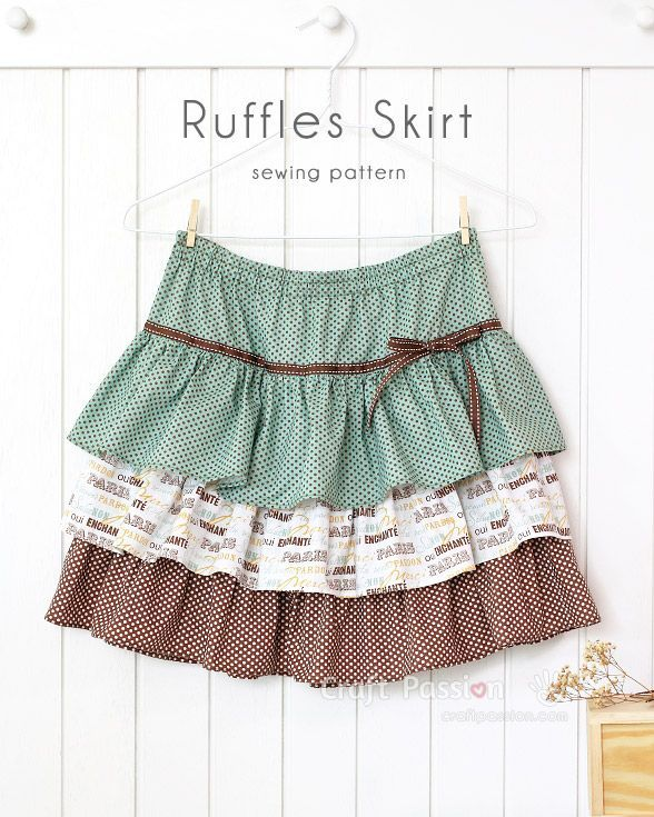 Craft Passion's Ruffle Skirt sewing pattern, can be easily adapted to any sizes by waist measurement & skirt length. Suit baby, toddler, teenager & adult. – Page 2 of 2