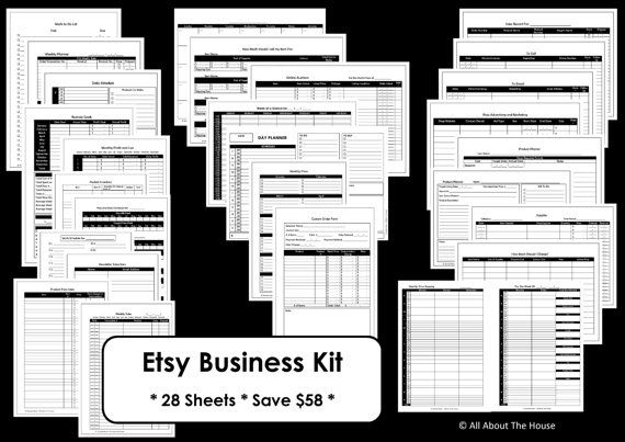 Etsy Business Planner Printables  Work At Home by AllAboutTheHouse, $11.00