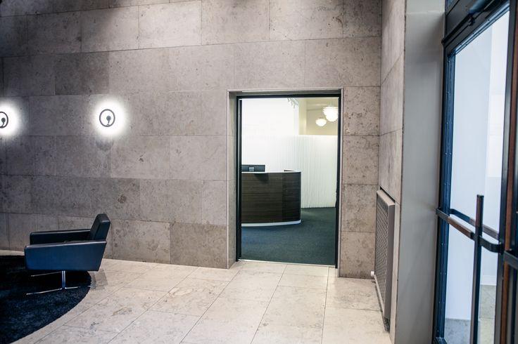 Receptiondesk at Købstædernes Forsikring