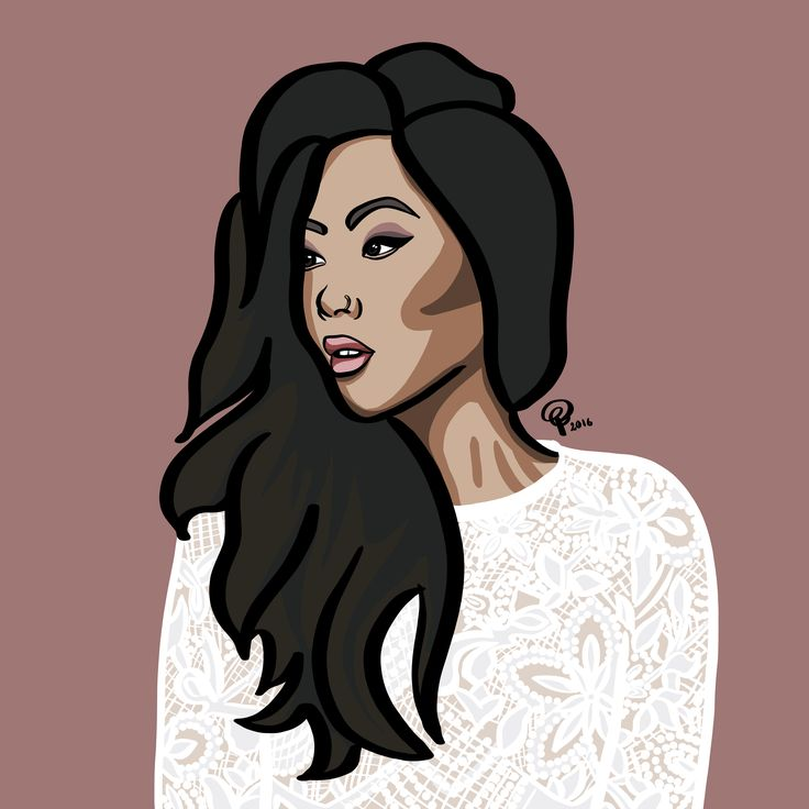 An illustration of the beautiful Claire Marshall. Loved her vlogmas. Made with Ipad Pro and Apple Pencil by Petra Gregersen