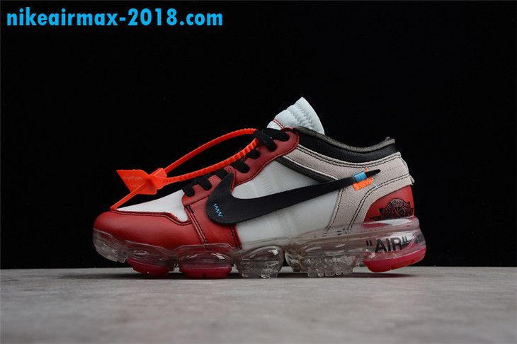 90bfe79e491 Off-White x Air Jordan 1 x Nike Air VaporMax Chicago Mens Sneaker White Red  Black AA3830-003