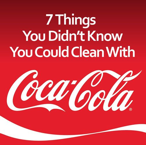 I can't believe the things that Coke can clean! Wow!