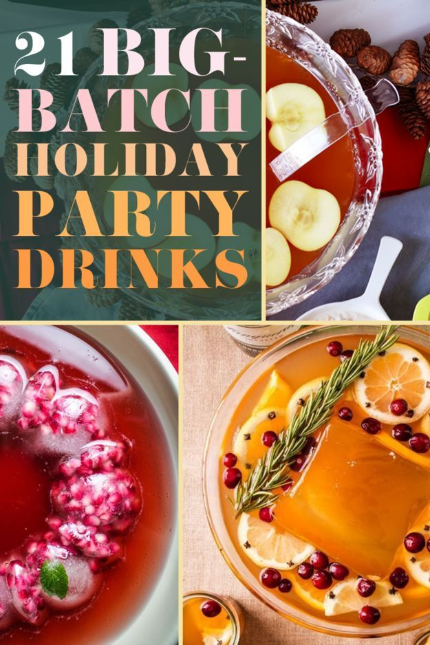 You'll drool over these 21 Big-Batch Cocktails To Get Everyone Drunk At Your Holiday Party