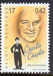 Charlie Chaplin été admiré en Belgique. C'estun timbre